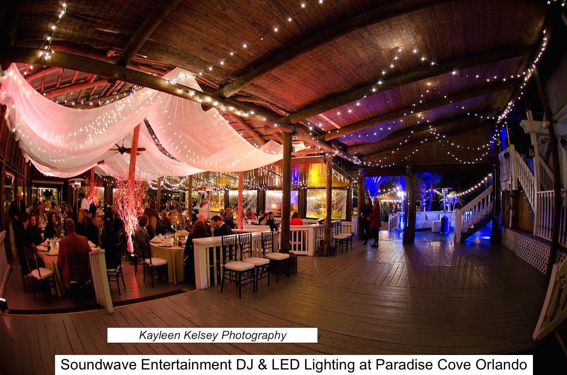 Paradise Cove Soundwave Entertainment Wedding Djs Led