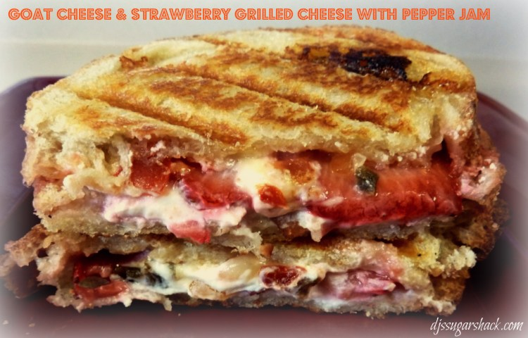 Goat Cheese & Strawberry Grilled Cheese with Pepper Jelly