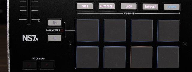 The pad + mode selectors on NS7 II