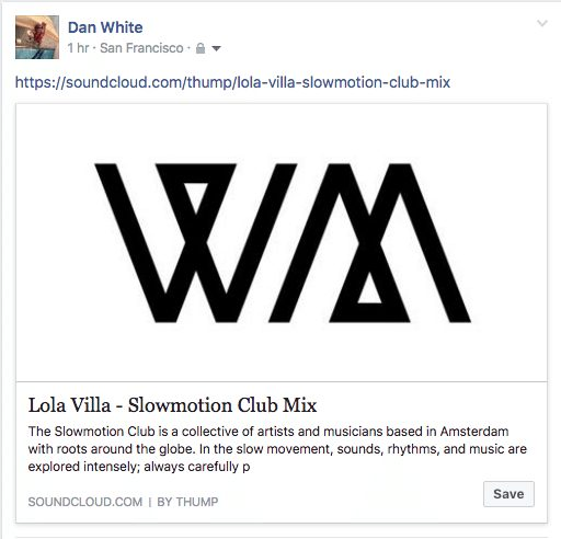 Want to embed a Soundcloud player on Facebook? Sorry, not an option.