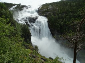 The Nyostolfossen, at 400 m height