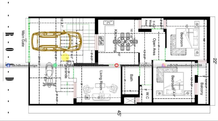 22x45 house plan