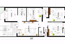 25x60 house plan