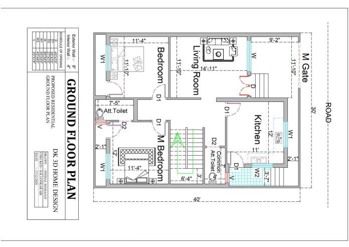East Facing House Plan