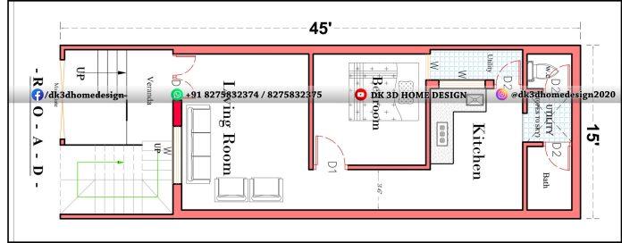 1bhk house plan