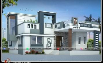 simple single floor house front design