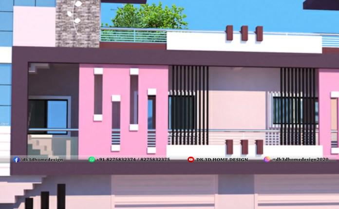 Simple design of balcony