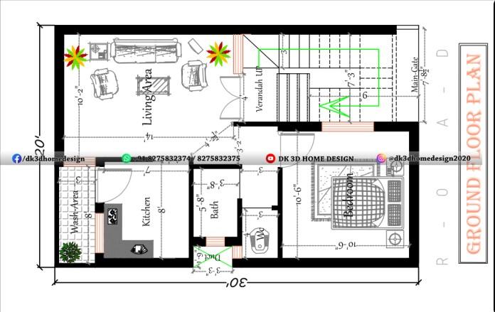 20*30 house plan
