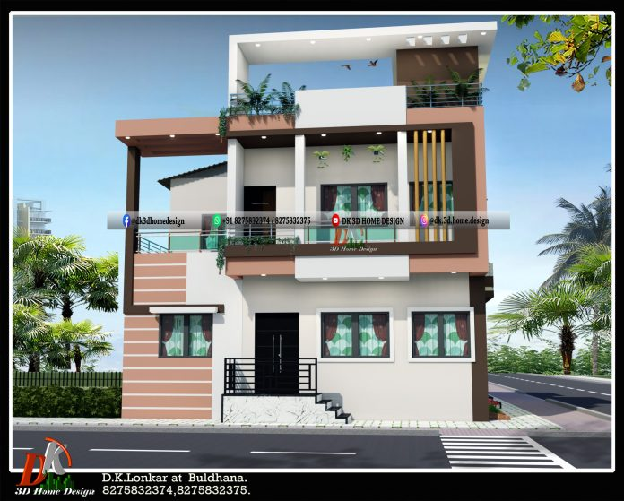 2 floor house design and plan