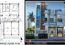30x40 2 story house plan and design with shop