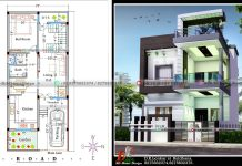 2 story house plan and design 20x50 in 1000 sq ft