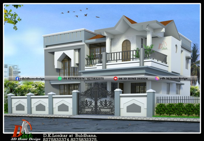 white colour combination for house exterior painting