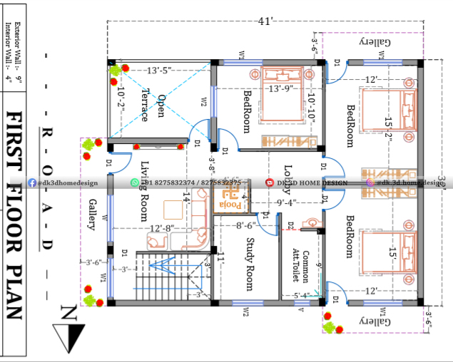3 cent house plan drawing