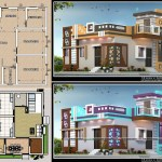 850 sq fr 2bhk house plan with design