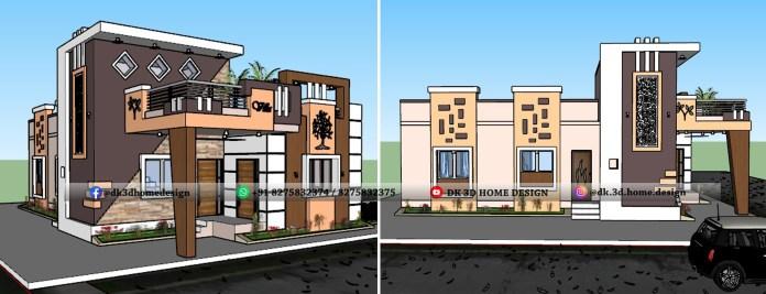 30x50 house front elevation design