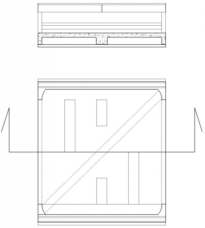 Plan of One Structural Bay and Part Longitudinal Section