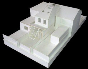 Architectural Model Showing House Extension