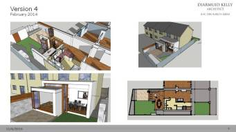 We created a more detailed view of this option, with some ideas for furniture to optimise the small new space