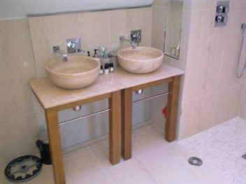 Twin Bowl Sink Vanity Unit