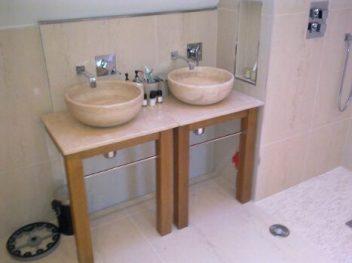 Twin Bowl Sink Vanity Unit
