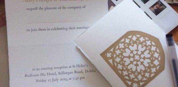 Diarmuid and Mary's Wedding Invitation