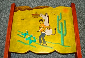 W11 PAINTED BURRO CHAIR 2