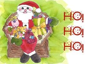 W15 12 4 Moms Santa 4 HO HO HO card