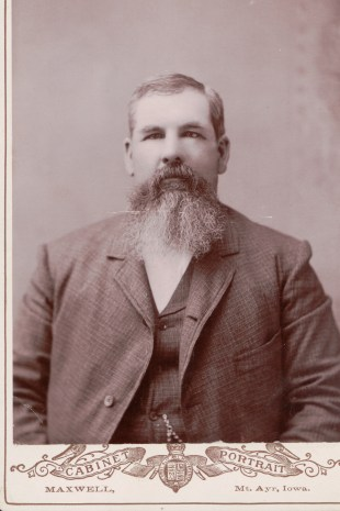 Victorian Man of Ringgold County, Iowa, taken by Matthew G. Maxwell between 1888-1892.