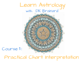 Astrology Self-Study 12 Week Course