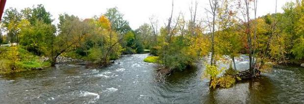 The Huron River from Delhi Bridge by Deb Nystrom