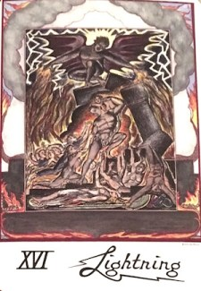 Lightning - Triumph 16 of the Blake Tarot