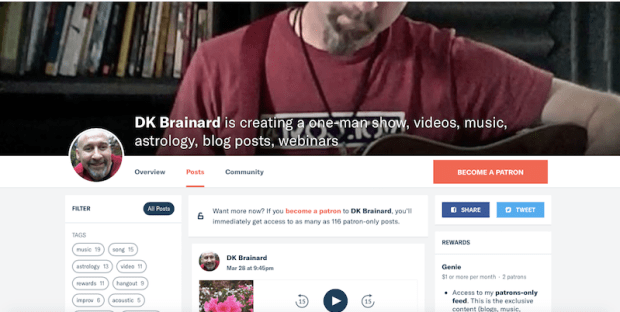 Support DK Brainard on Patreon