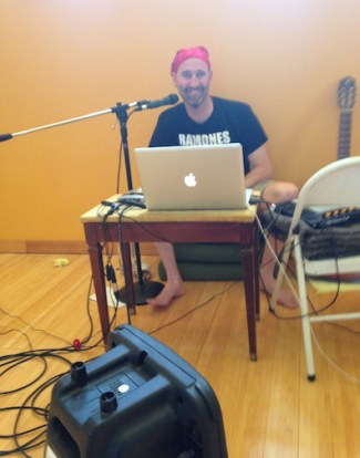 Working on the live show. Photo by Lisa Buell.