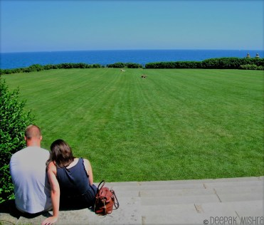 The lawn with Atlantic view