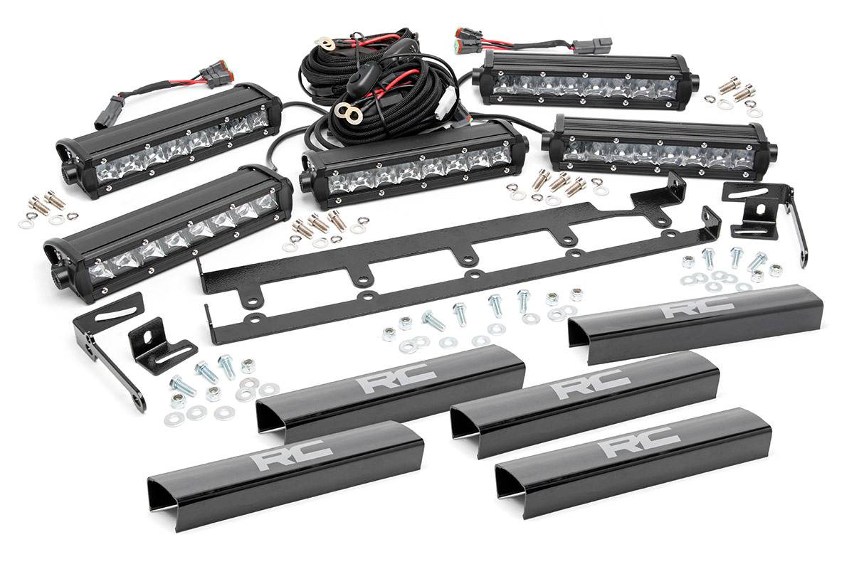 Jeep 8in Vertical Led Grille Kit 5pc