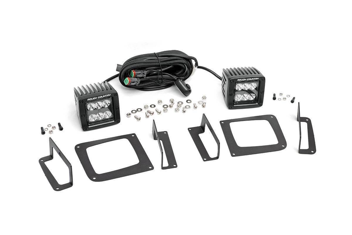 Gmc 2 Inch Cree Led Fog Light Kit Black Series