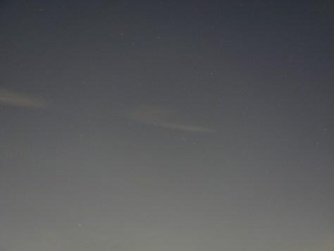 夕方の夜空