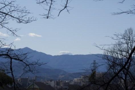 2009年1月2日の富士山と丹沢