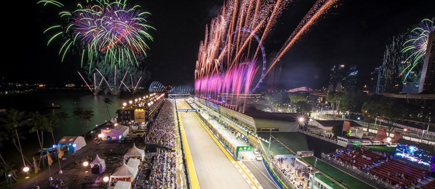 Image result for f1 singapore fireworks