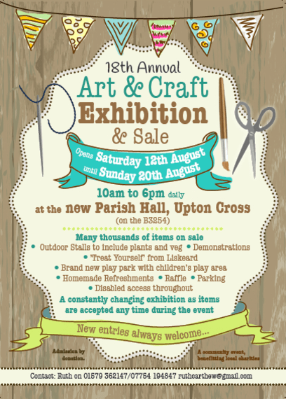 Upton Cross Annual Art Amp Craft Exhibition Amp Sale At
