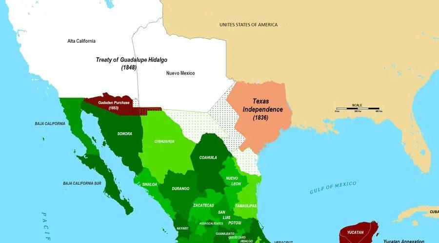 اراضي المكسيك في الولايات المتحدة