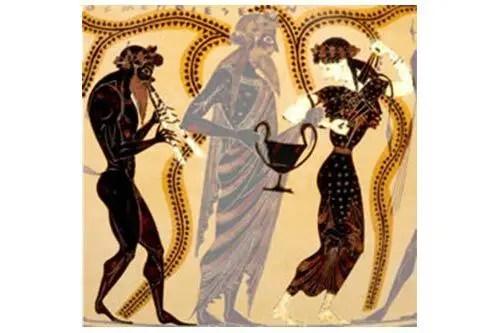 ديونيسوس ممسك بالكانثاروس