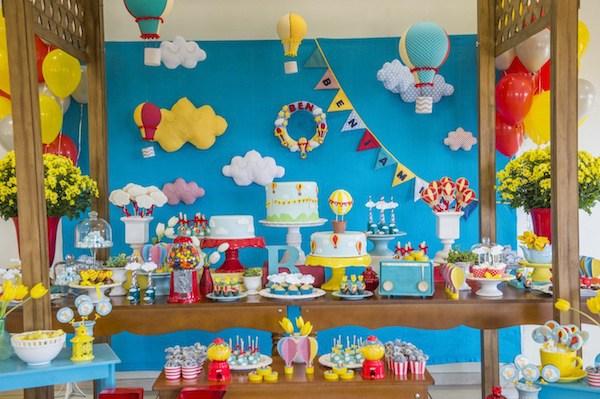 Chá de beb u00ea nuvem fofura em dobro para a festa Chá de Beb u00ea EuNenem com -> Decoração Chá De Bebê Nuvem