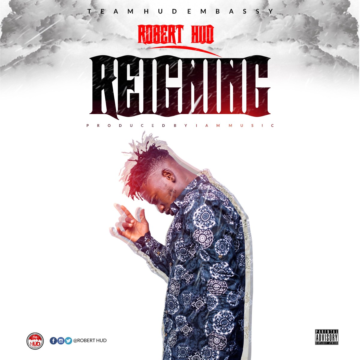"""Robert Hud unveils cover art and release date for his new single """"Reigning""""."""