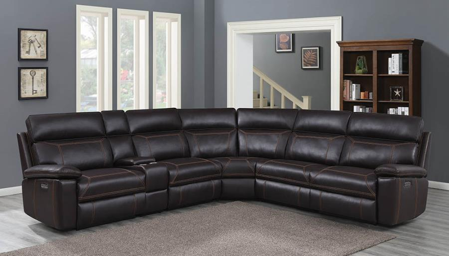 albany 6 piece power motion reclining sectional sofa