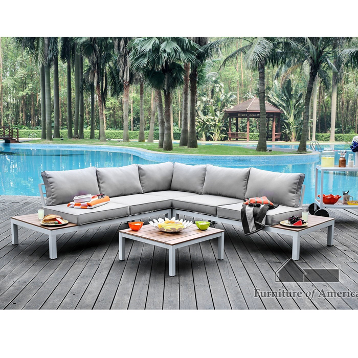 winona l shaped patio sectional sofa with coffee table