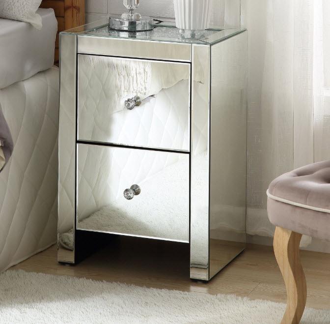 noralie mirrored nightstand