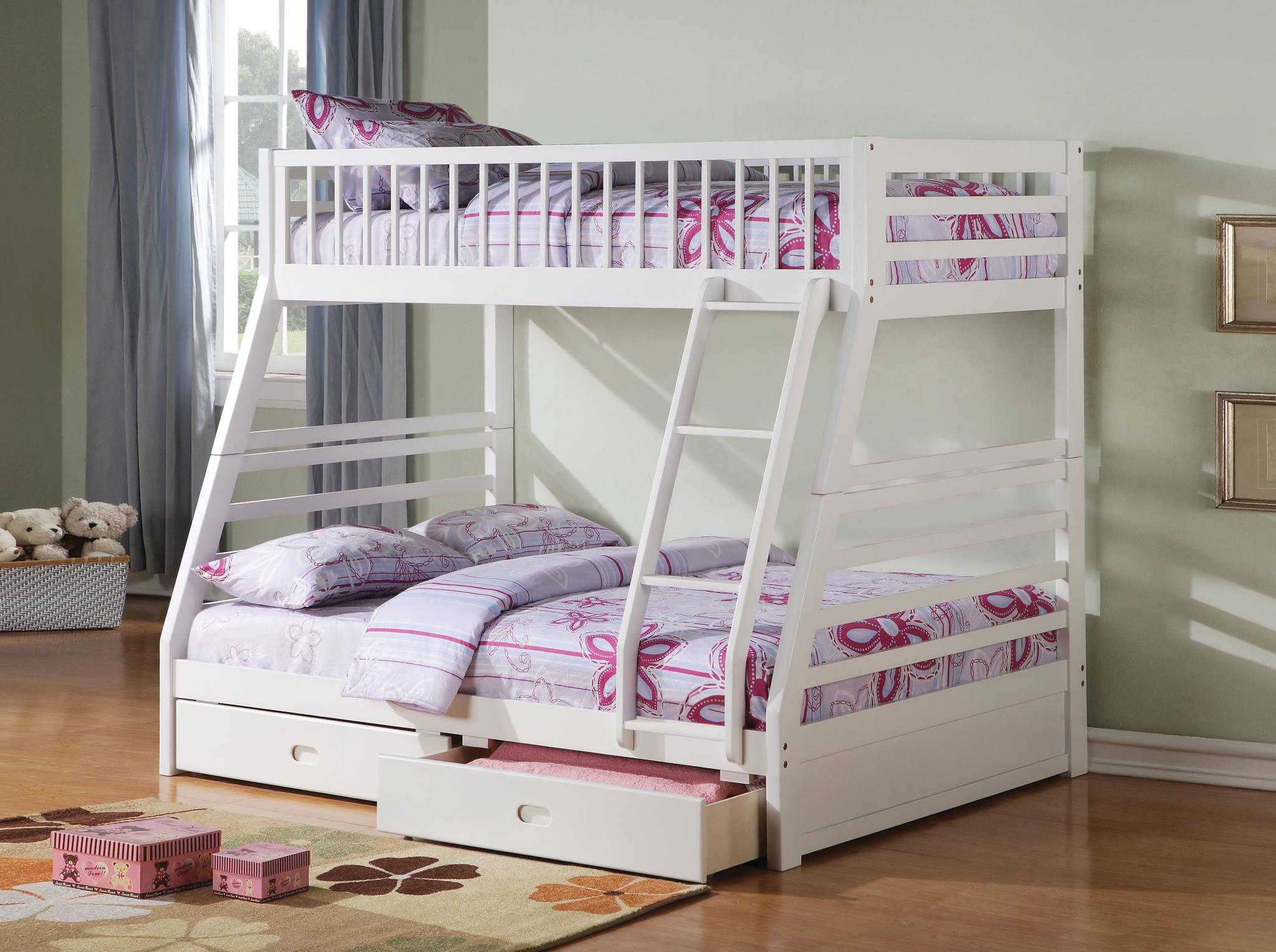 Jason Storage Twin Over Full Convertible Bunk Bed