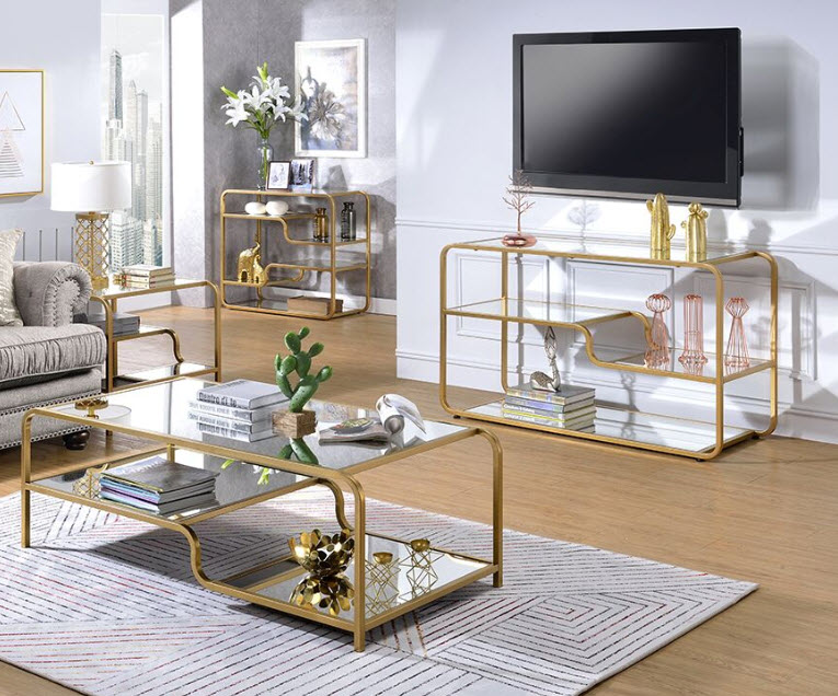 astrid modern gold coffee table