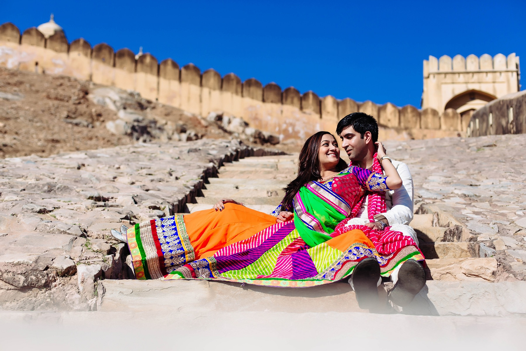 A Monumental Building In Rajasthan India Stock Photo